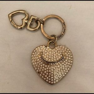 Juicy Couture Gold Diamond Heart Keychain